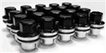 BLACK ALLOY WHEEL NUTS X 20 27MM (S) FOR DEFENDER & DISCOVERY 1