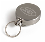 Retractable Lanyard in Silver Aluminium Case For Land Rover