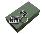 HUE166 Cast Metal Enamelled Alloy Key Ring - taking inspiration from the original licence plate of the Series I