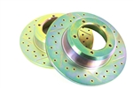 BRAKE DISC DRILLED & GRV FOR FRONT DEFENDER & DISCOVERY 1 (2XDISC)