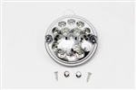 Round LED Reverse light Clear (No plinth) 95mm Wipac