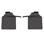 Pair rear Mudflaps with brackets for 83-16 Def 110 & 130