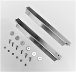 Stainless Steel 2nd Door Sill Covers (Pair) + Stainless Bolt Kit (S)