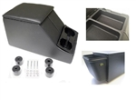 Cubby Box Kit in Black for Land Rover Defender - Includes Rear Pocket and Inner Cubby Box Double Tray