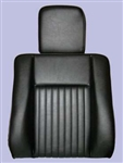 Deluxe Outer Seat Back for Series Land Rover in Black Vinyl with Headrest