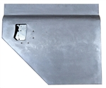 Galvanised Right Hand Early 110 Second Row Split Door Bottom For Land Rover Series NO LOCK HOLE