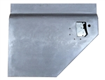 Galvanised Left Hand Early 110 Second Row Split Door Bottom For Land Rover Series Anti Burst WITH LOCK HOLE