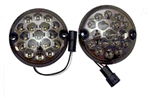 Round LED Reverse & Fog Light Smoked (No plinth) 95mm Inc Screws (S)