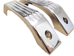 2 X Def 83-Present Chrome Interior Door Grab Handles