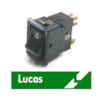 Hazard Rocker Switch - 12v - Lucas