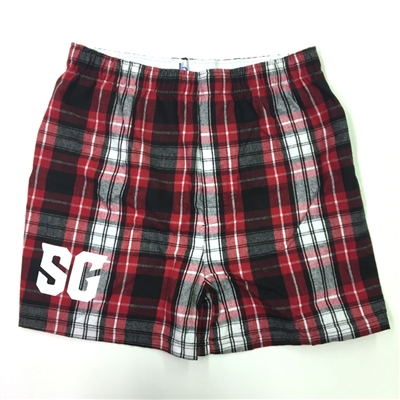Red and Black Flannel Boxers