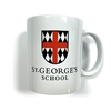 White mug with School Logo