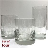 Etched Glasses with St. George's Chapel.