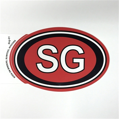 Decal (oval SG sticker)