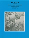 Sotheby's The Otto Kallir Collection of Aviation History Auction Catalog 1993