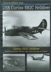USN Curtiss SB2C Helldiver WWII Dive Bomber DVD