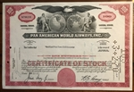 Pan Am Pan American World Airways Stock Certificate (Red)