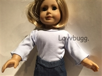 SALE Light Blue Long-Sleeve T Shirt 18 inch Girl Boy or Baby Doll Clothes