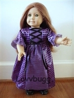 Lovvbugg Dirndl Purple Plaid for American Girl 18 inch Doll Clothes