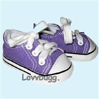SALE Lovvbugg Purple Sneakers 18 inch Girl or Baby Doll Shoes