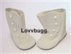 Lovvbugg Ivory Victorian Boots 18 inch American Girl or Baby Doll Shoes