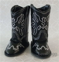 SALE Lovvbugg Black Cowboy Boots 18 inch Girl or Baby Doll Shoes
