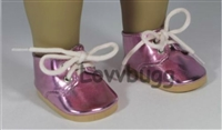 SALE Lovvbugg Pink Twinkle Toes Oxfords 18 inch Girl or Baby Doll Shoes