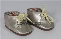 SALE Lovvbugg Twinkle Toes Oxfords Gold 18 inch Girl or Baby Doll Shoes