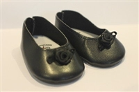 SALE Lovvbugg Black Rose Flats 18 inch Girl or Baby Doll Shoes