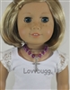 Lovvbugg Purple Beads Cross Necklace 18 inch American Girl Doll Religious Jewelry Accessory
