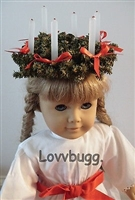 Lovvbugg's Own St Lucia Wreath 18 inch American Girl Doll Kirsten Clothes Accessory