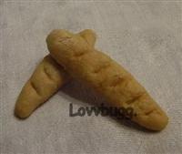 Lovvbugg Two French Bread Baguettes 18 inch Girl or Baby Doll Food Accessory