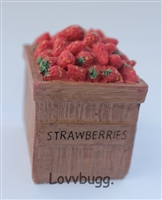 Crate of Strawberries to add to Store or Farmers Market Food 18 inch American Girl Doll Accessory