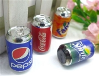 4 Cans Flavors Soda Pop Drinks 18 inch American Girl Doll Food Accessory