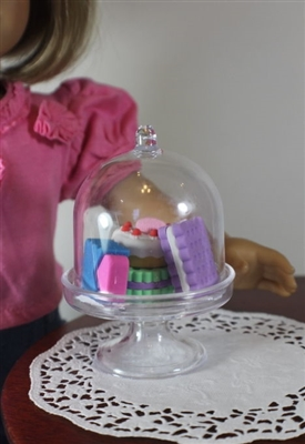 Lovvbugg Cake Stand with French Pastries 18 inch Girl Doll Food Accessory
