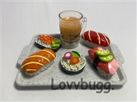 Larger Mini Sushi on a Tray 18 inch American Girl Boy or BJD Doll Food Accessory