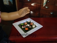 Lovvbugg Mini Sushi on a Plate 18 inch Girl or BJD Doll Food Accessory