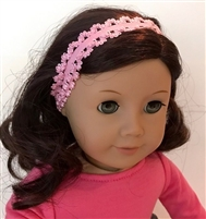 SALE Lovvbugg Lacy Pink Headband 18 inch American Girl Doll Hair Accessory
