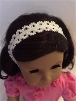 SALE Lovvbugg Lacy White Headband 18 inch American Girl Doll Hair Accessory