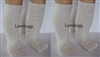 Lovvbugg 2 Pairs Ivory Lattice Socks Stockings 18 inch Girl or Baby Doll Clothes Accessory