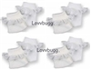Lovvbugg 4 Pairs White Socks with Lace 18 inch Girl or Baby Doll Clothes Accessory
