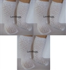Lovvbugg  3 Pairs White Lattice Diamond Socks Stockings 18 inch Girl or Baby Doll Clothes Accessory