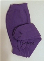 SALE Lovvbugg Purple Tights 18 inch Girl or Baby Doll Clothes Accessory