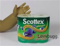 Groceries Scottex Mini Paper Towels Package Girl Dollhouse Accessory