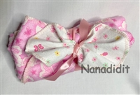 Nanadidit Pink Butterflies Receiving Blanket Set for Newborn