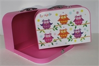 Colorful Owls Suitcase Largest Siz Girl 14 to 18 inch Doll Accessores Storage