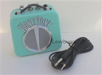 Real Mini Amplifier with Radio Cord Perfect for American Girl Doll Musical Instrument Accessory