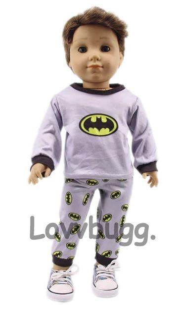 Boy Doll Clothes  Go Lovvbugg! Batman Pajamas or Costume for American Girl