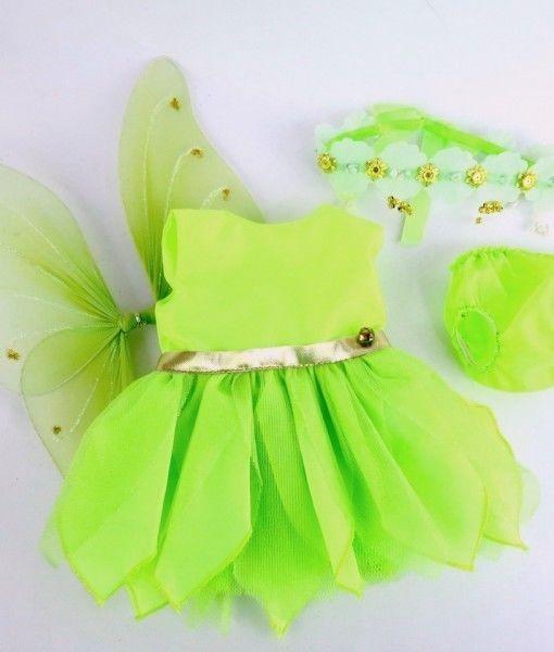 Tinkerbell Fairy Costume 18 inch Girl