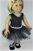 Black Ballerina Complete Set 18 inch American Girl or Bitty Baby 15 inch Doll Clothes